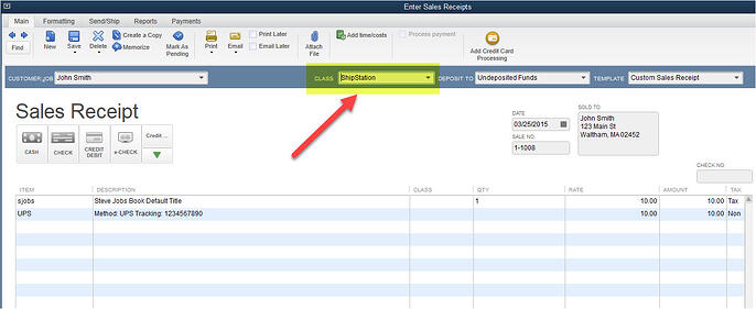QuickBooks to ShipStation Class